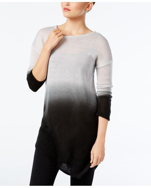 Vince Camuto | Gray Dip-dyed Asymmertical-hem Sweater | Lyst