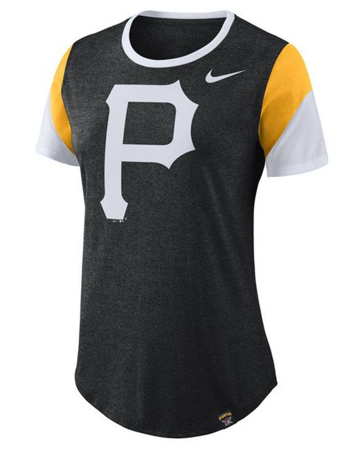f8d86c1d6 Nike - Black Pittsburgh Pirates Tri-blend Crew T-shirt - Lyst ...