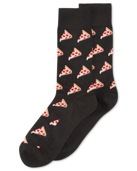 Hot Sox | Black Pizza Crew Socks for Men | Lyst