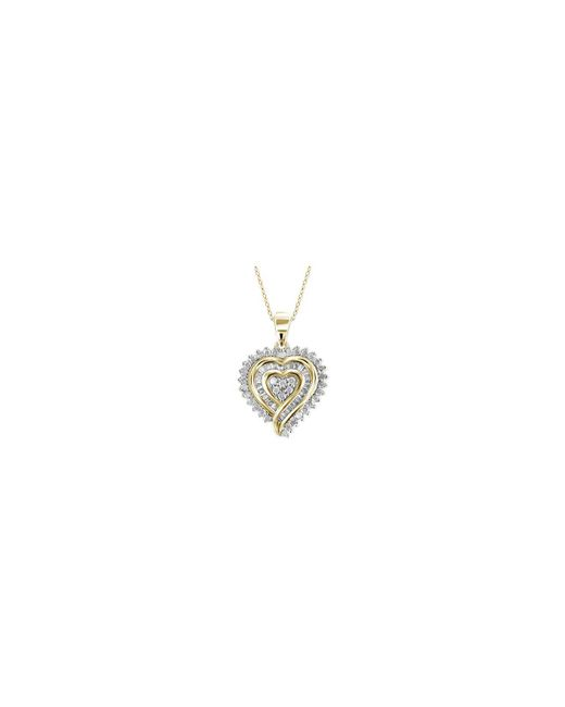 Macy's - Multicolor Diamond Heart Pendant Necklace (1/2 Ct. T.w.) In 18k Gold Over Sterling Silver - Lyst