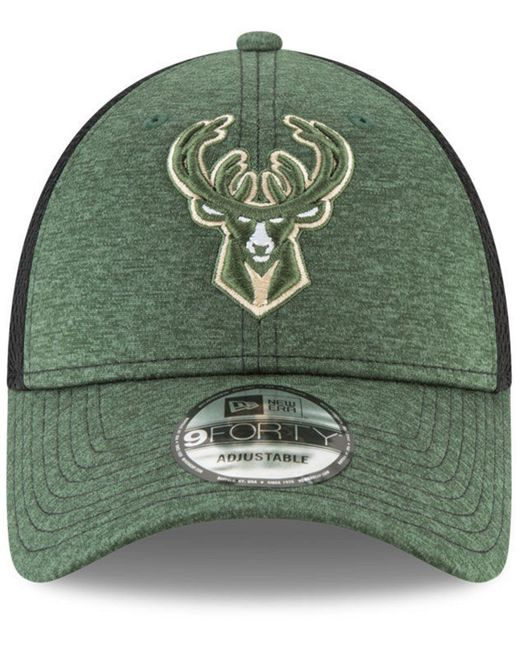 wholesale dealer a30e3 4e869 ... sale ktz green milwaukee bucks shadow turn 2 adjustable cap for men lyst  64c76 2af7b