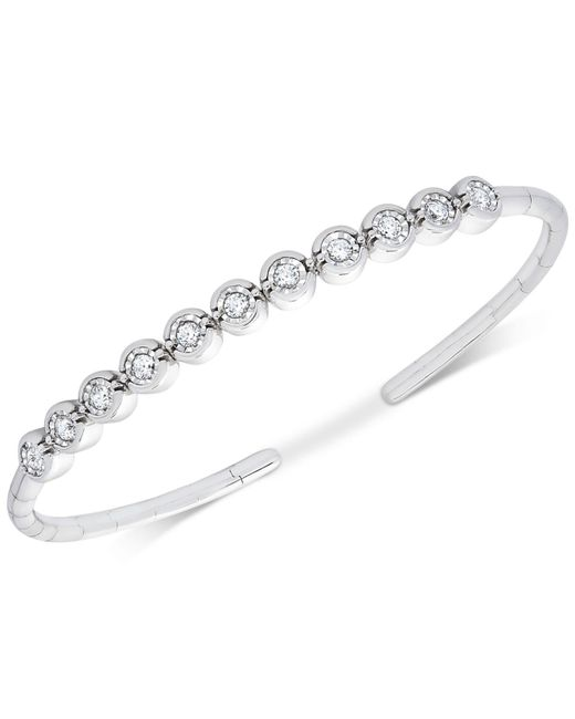 Macy's - Metallic Diamond Bezel Bangle Bracelet (1/2 Ct. T.w.) - Lyst