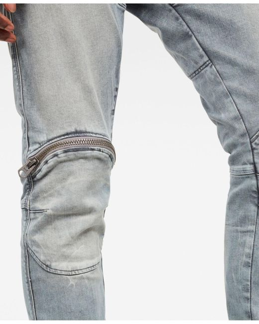 c61679ea374 Lyst - G-Star RAW 5620 Elwood 3d Skinny-fit Zip-knee Stretch Jeans ...