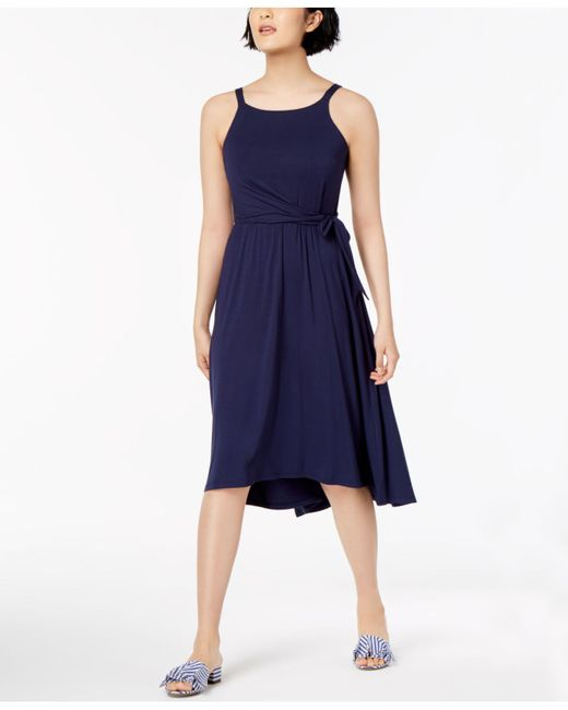 Maison Jules - Blue High-low Fit & Flare Dress, Created For Macy's - Lyst