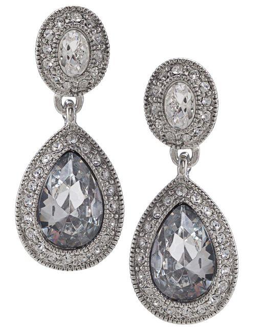 Carolee - Metallic Earrings, Crystal Drop - Lyst
