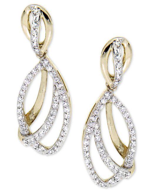 Wrapped in Love | Metallic Diamond Drop Earrings (1/2 Ct. T.w.) In 14k Gold | Lyst