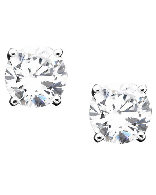 Giani Bernini - Metallic Sterling Silver Cubic Zirconia Stud Earrings (1 Ct. T.w.) - Lyst
