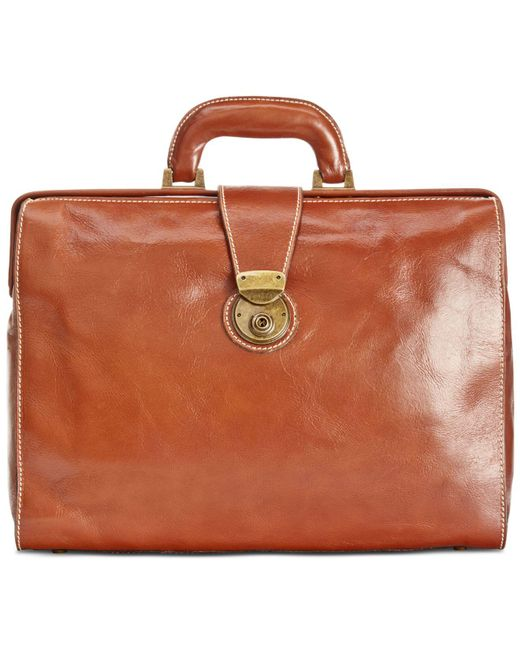 Patricia Nash - Brown Men's Heritage Leather Slim Briefcase - Lyst