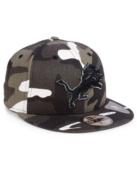 super popular 6faee f3ffa ... KTZ - Black Detroit Lions Urban Prism Pack 59fifty-fitted Cap for Men -  Lyst ...