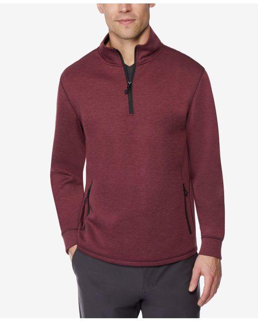 32 Degrees - Red Fleece Tech Quarter Zip for Men - Lyst