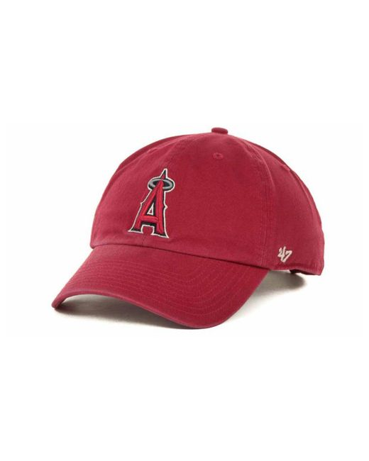 4bde83c13 Men s Red Los Angeles Angels Of Anaheim Clean Up Hat