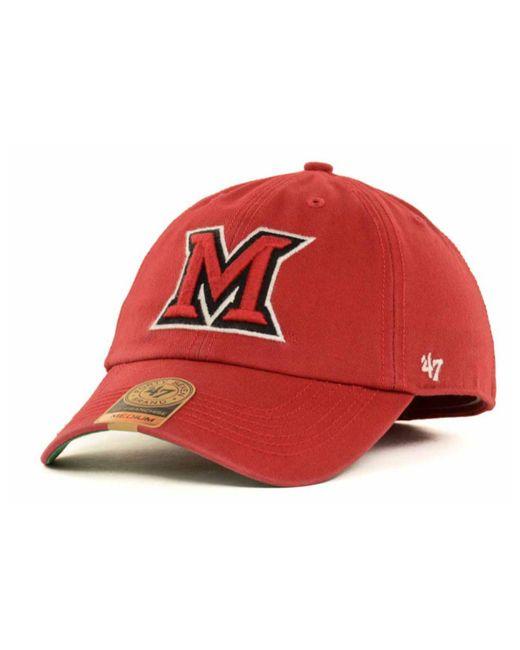 47 Brand | Miami (ohio) Redhawks Ncaa '47 Franchise Cap for Men | Lyst
