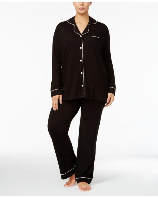 Cosabella | Black Bella Plus Size Contrast-trim Pajama Set Amore9641p | Lyst