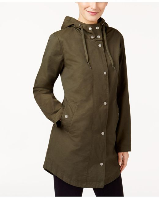 Style & Co. | Green Hooded Anorak Jacket | Lyst
