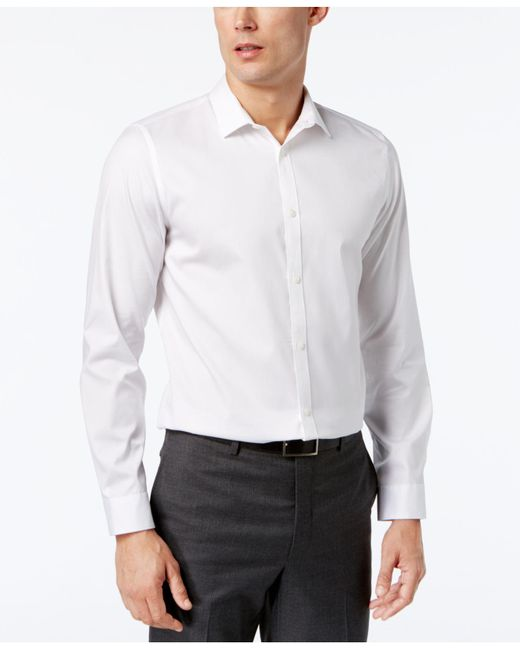 CALVIN KLEIN 205W39NYC - White Infinite Cool Classic-fit Shirt for Men - Lyst