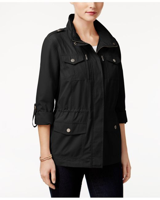 Style & Co. - Black Petite Utility Jacket, Created For Macy's - Lyst
