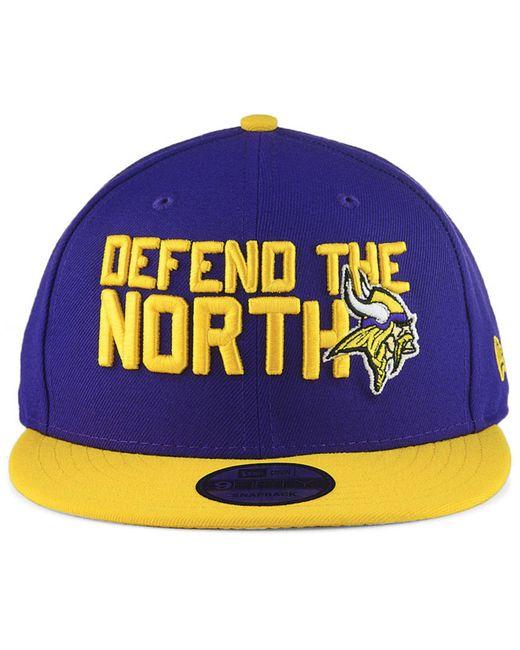 9cbb318c6 ... KTZ - Multicolor Minnesota Vikings Draft Spotlight 9fifty Snapback Cap  for Men - Lyst ...