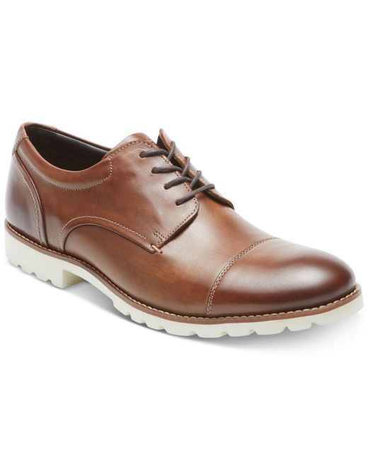 Rockport - Brown Channer Cap-toe Bluchers for Men - Lyst