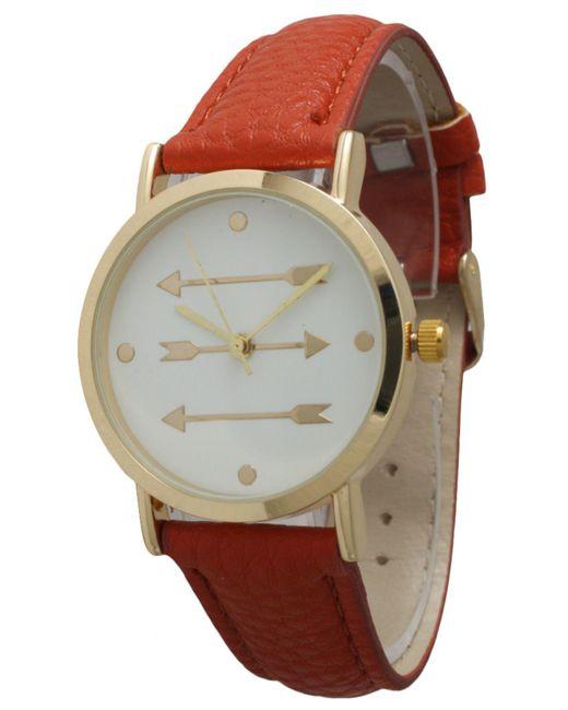 Olivia Pratt - Natural Three Arrows Leather Strap Watch - Lyst
