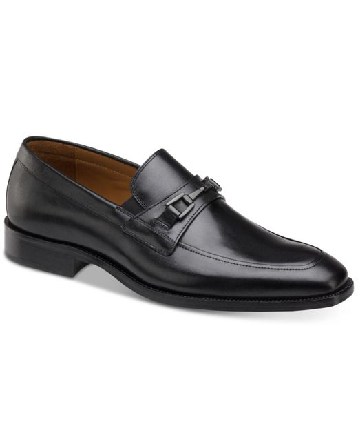 Johnston & Murphy Black Sanborn Bit Loafers for men