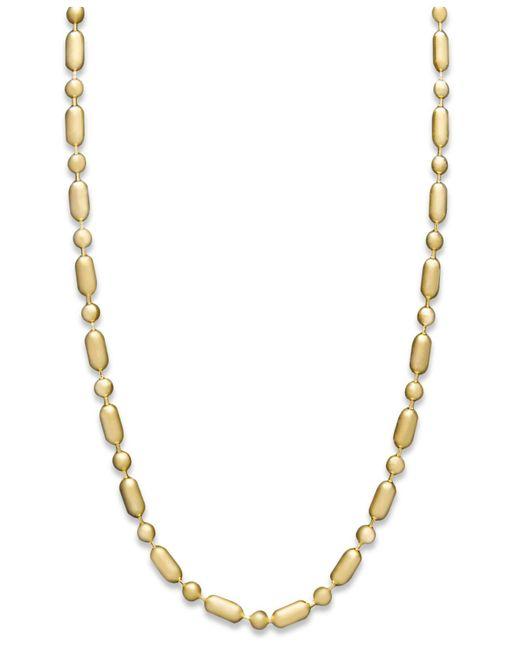 "Macy's - Metallic 14k Gold Necklace, 20"" Dot Dash Chain (1mm) - Lyst"