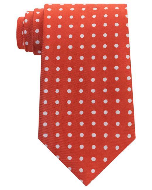 Tommy Hilfiger | Orange Men's Printed Dot Tie for Men | Lyst