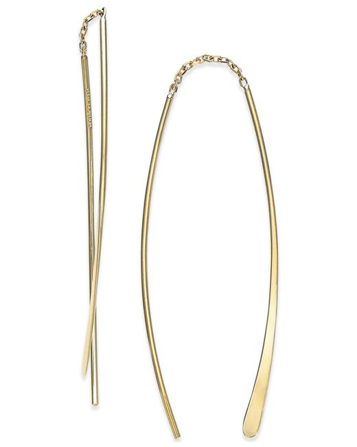 Macy's - Metallic Double Threader Earrings In 14k Gold - Lyst