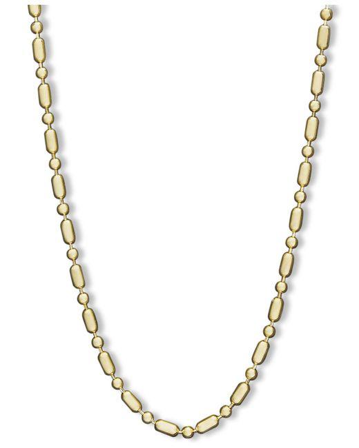 "Macy's | Metallic 14k Gold Necklace, 24"" Dot Dash Chain | Lyst"