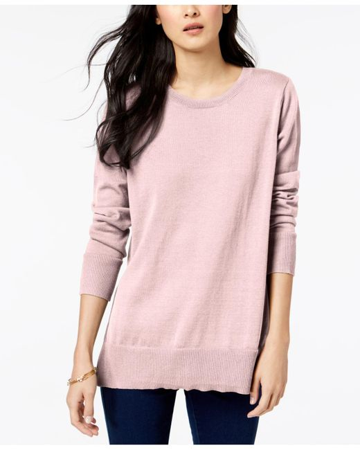 Maison Jules - Pink Crew-neck Sweater, Created For Macy's - Lyst
