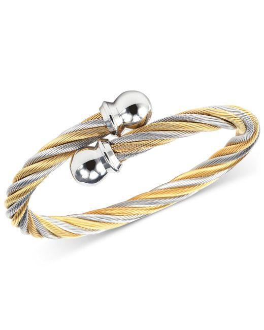 Charriol - Metallic Women's Celtic Two-tone Pvd Stainless Steel Cable Bangle Bracelet 04-801-1216-0s - Lyst