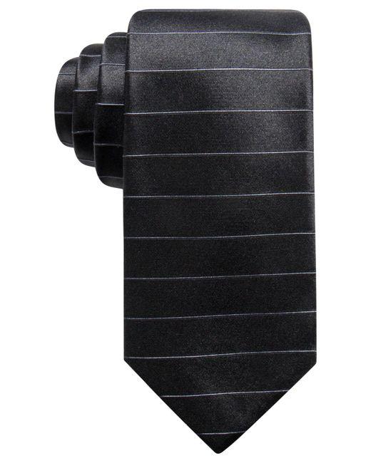 Alfani   Black Men's Stripe Silk Slim Tie, Created For Macy's for Men   Lyst