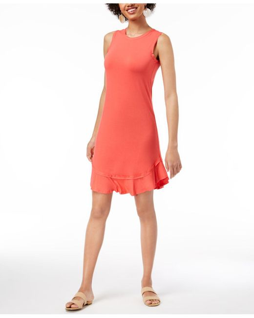 Maison Jules - Multicolor Ruffled-hem A-line Dress, Created For Macy's - Lyst
