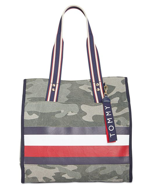 Tommy Hilfiger - Multicolor Carmel Camo Canvas North/south Tote - Lyst