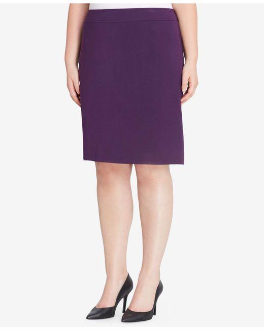 Tahari | Purple Ponte-knit Skirt | Lyst