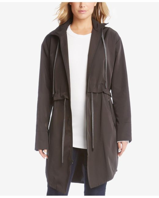 Karen Kane | Black All-weather Drawstring Utility Jacket | Lyst