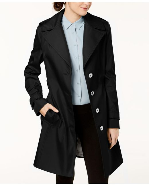 CALVIN KLEIN 205W39NYC - Black Belted Waterproof Trench Coat - Lyst