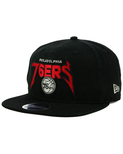 f46f357a246 KTZ - Black Philadelphia 76ers 90s Throwback Groupie 9fifty Snapback Cap  for Men - Lyst ...