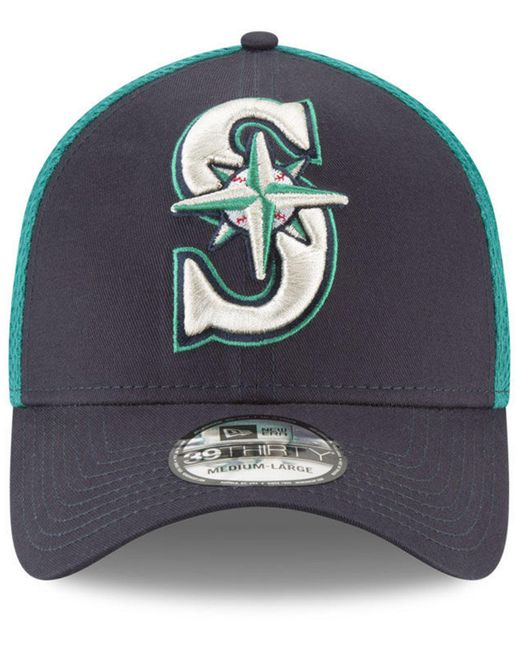 cheap for discount bfbfb 65270 ... greece ktz blue seattle mariners mega team neo 39thirty cap for men  lyst ae3eb 895d2