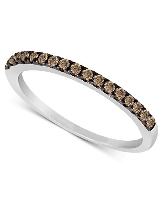 Le Vian - Metallic Chocolate Diamond Pave Band (1/4 Ct. T.w.) In 14k White Gold - Lyst