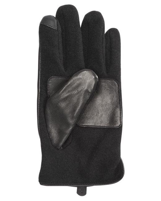 f1005b031b9c6 ... Polo Ralph Lauren - Black Nappa Hydrid Gloves for Men - Lyst