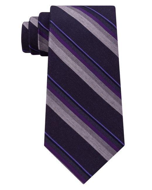 Kenneth Cole Reaction | Purple Men's Stripe Tie for Men | Lyst