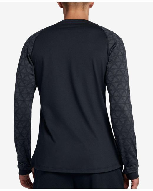 b47db2c45 Nike Pro Colorblocked Utility Shirt in Black for Men - Save 62% - Lyst