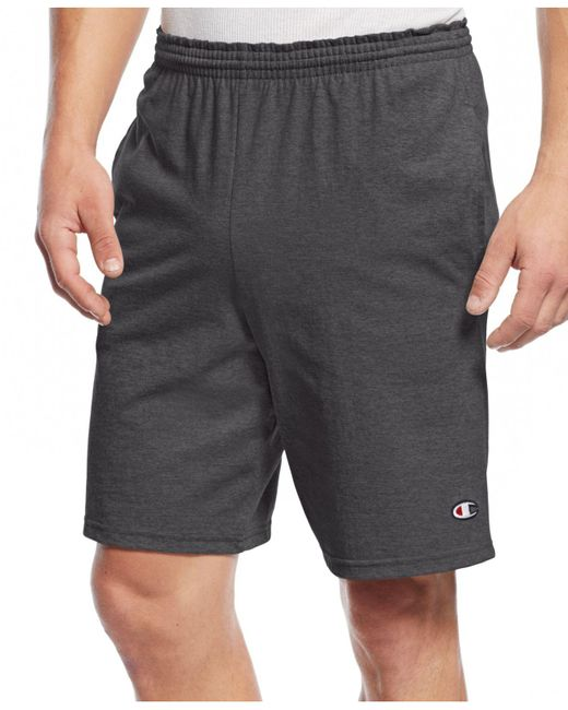 Champion | Gray Jersey Shorts for Men | Lyst
