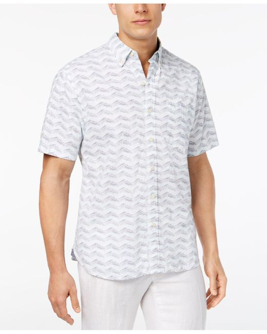 Tommy Bahama - Blue Chevron Shores Shirt for Men - Lyst