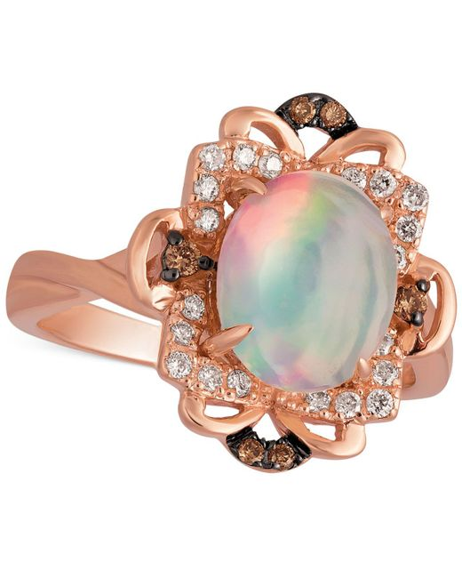 Le Vian - Pink Opal (1-1/5 Ct. T.w.) And Diamond (1/6 Ct. T.w.) Ring In 14k Rose Gold - Lyst