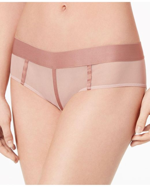 DKNY - Pink Sheers Mesh-panel Hipster Dk4942 - Lyst