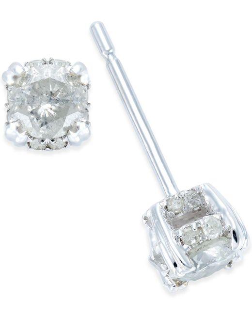 Macy's - Metallic Diamond Stud Earrings In 14k White Gold (1/2 Ct. T.w.) - Lyst