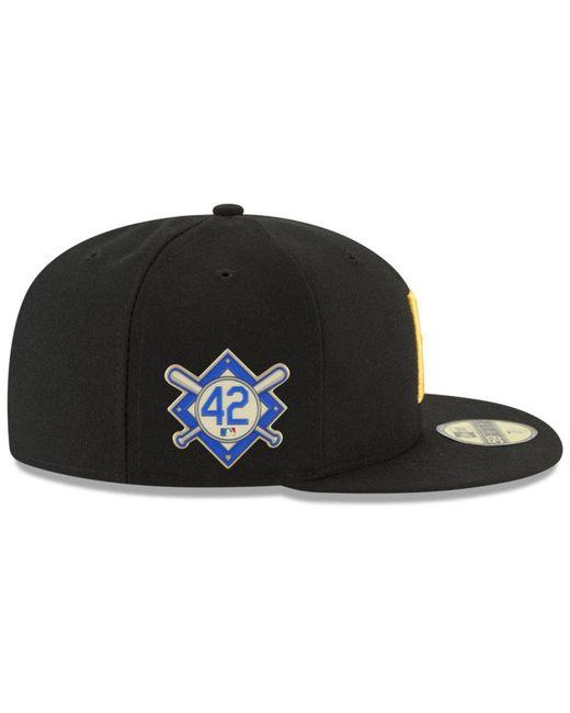 2cadde5e26e9e ... KTZ - Black Pittsburgh Pirates 150th Anniversary 59fifty-fitted Cap for  Men - Lyst ...