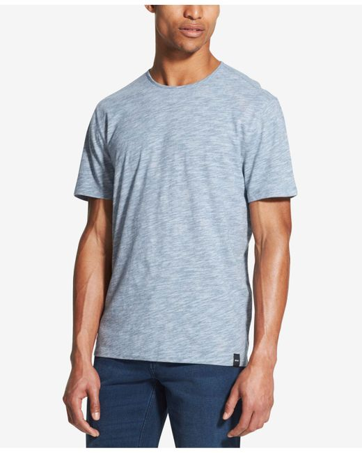 DKNY - Blue Textured T-shirt for Men - Lyst