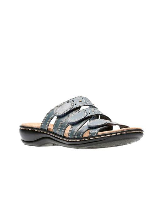 Clarks Blue Leisa Cacti Q Flat Sandals